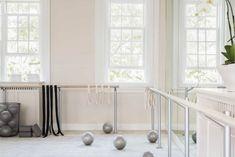 Home Ballet Studio, Yoga Studio Decor, Home Studio, Dance Studio Design, Dance Rooms, Home Gym Design, Gym Decor, Pilates Studio, White Kitchen Cabinets