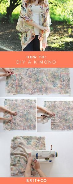Save this for an easy guide on how to DIY this gorgeous kimono. Save this for an easy guide on how to DIY this gorgeous kimono. The post Save this for an easy guide on how to DIY this gorgeous kimono. appeared first on Sewing ideas. Kimono Diy, Kimono Tutorial, How To Make Kimono, Diy Clothes Kimono, Chiffon Kimono, Sewing Hacks, Sewing Tutorials, Sewing Crafts, Sewing Tips