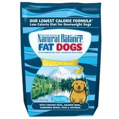 Natural Balance Fat Dogs Chicken/Salmon Diet Food 5 lbs