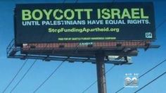 A billboard in Chicago calling for a boycott of Israel will be removed following a public outcry.  Lamar Advertising, which leases billboards throughout th