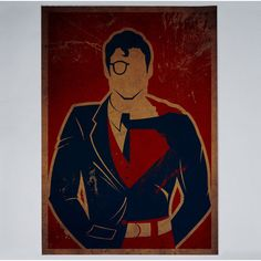 Minimalist superhero posters bisect Superman into his alter ego Clark Kent - by Danny Hass Batman E Superman, Spiderman, Clark Superman, Superman Superman, Superman Stuff, Comic Kunst, Comic Art, Comic Books, Hero Marvel