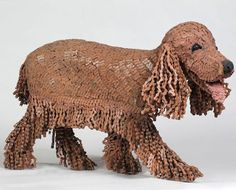upcyclish: How wow - dog sculpture - upcycled bicycle chains