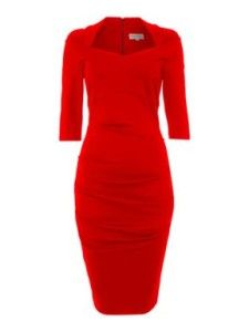 red dresswith sleeves for style over 50