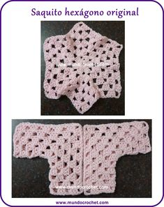 Crochet baby hexagon jacket: how to change the size