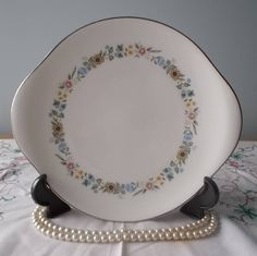 Vintage Royal Doulton & Co Limited Pastorale H5002 Gateaux Plate/Bread and Butter Plate/Sandwich Plate Bone China by vintageretrojewels on Etsy