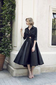 circular skirt that looks like leather