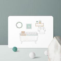 Cocon de douceur. C'est le nom de ce modèle adorable et délicat. On adore ! 💕 Collection, Colored Envelopes, Craft Papers, Gentleness, Birth