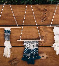 woven wall hanging diy // fiber art // weaving instructions // kollabora x jo-ann