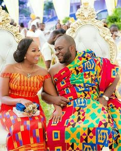 Jannettes traditional marriage #kente inspired