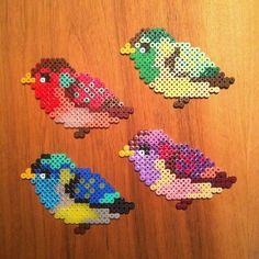 Birds hama perler beads by Camilla Drejer