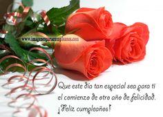Flores con Bonitos Mensajes de Cumpleaños - Imagenes y Tarjetas para Felicitar en Cumpleaños