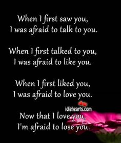 When I first saw you