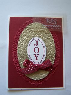 JOY - Holiday Frame Embossing Folder