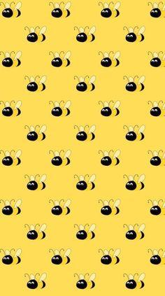 Bee Wallpaper, Aesthetic Iphone Wallpaper, Pattern Wallpaper, Wallpaper Backgrounds, Scrapbook Background, Bee Boxes, I Love Bees, Printable Scrapbook Paper, Whatsapp Wallpaper