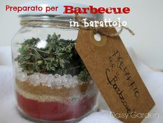 Preparato per il barbecue in barattolo Jar Gifts, Food Gifts, Christmas Time, Christmas Gifts, Christmas Ornaments, Edible Gifts, Xmas Decorations, Little Gifts, Homemade Gifts
