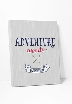 Canvas Print: Adventure Awaits (Personalized)