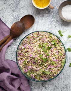 Cauliflower & buckwheat salad. http://www.jotainmaukasta.fi/2017/02/03/8020-ruokavaliotyokirja/