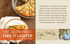 The Deen Bros. Lighter Asparagus Quiche