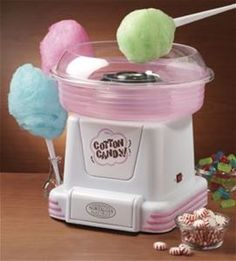 Hard candy cotton candy machine. Available from Home Theater Express.