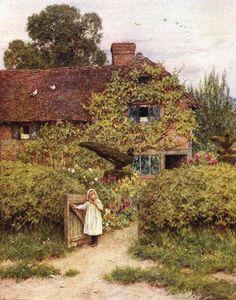 Peacock Cottage, West Horsley ~ Helen Allingham ~ (English: 1848-1926)