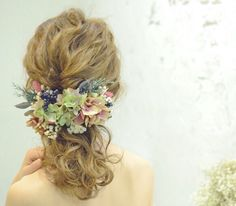 hydrangea〜ボルドー/グリーン〜ヘッドドレスパーツ×17p|ヘッドドレス|aco_wedding.lilla|ハンドメイド通販・販売のCreema