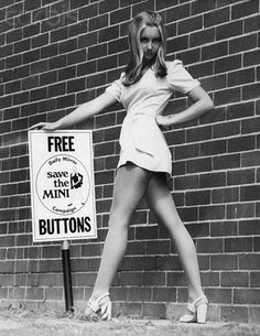 Mini skirts by Mary Quant