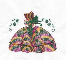 12  BRIGHT VARIGATED  Embroidered  Southern Belles Sunbonnets 11