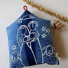 blueprint / SVATÁ RODINA - polštářek Rodin, Doll Toys, My Works, Throw Pillows, Toss Pillows, Cushions, Decorative Pillows, Decor Pillows, Scatter Cushions