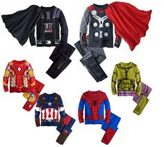 Boys Superhero Pajamas