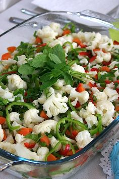 - Delicious Meets Healthy: Quick and Healthy Wholesome Recipes Appetizer Salads, Appetizer Recipes, Salad Recipes, Cauliflower Salad, Cauliflower Recipes, Roasted Cauliflower, Turkish Salad, Turkish Recipes, Ethnic Recipes