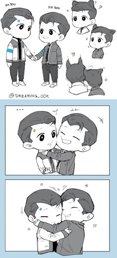 RK900 Connor meet his big brother RK800 Connor