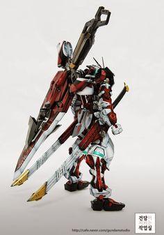 MG Gundam Astray Red Frame - Customized Build Modeled by Gundam Studio Astray Red Frame, Gundam Astray, Gunpla Custom, Gundam Model, Mobile Suit, Fantasy Characters, Samurai, Character Art, Sci Fi