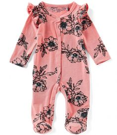 Jessica Simpson Baby Girls Months Floral Printed Ruffle Shoulder Footed Coverall – Baby For look here Baby Kicking, Baby Arrival, Pregnant Mom, Baby Needs, Overall, Baby Girl Newborn, Newborn Baby Clothes, Baby Baby, Newborn Girl Outfits