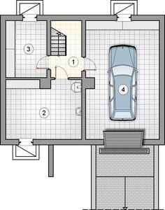 Projekt domu AT Rumiankowa Chata Bis CE - DOM - gotowy koszt budowy Floor Plans, Arquitetura, Floor Plan Drawing, House Floor Plans