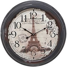 @Overstock - Showcase your love for Paris with these gorgeous, hand-painted brown metal wall clocks featuring elegant lotus-shaped hands. Constructed out of wrought iron, this traditional, round clock will instantly add a romantic feel to any room.http://www.overstock.com/Home-Garden/Casa-Cortes-Republique-Francaise-Metal-Wall-Clock/6356551/product.html?CID=214117 $66.99