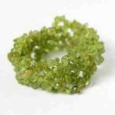 Genuine Semi-Precious Stone Peridot Bracelet www.silvermoonbay.net #armcandy #peridot #semipreciousstone #affordablegifts