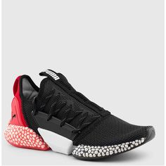 Puma hybrid rocket runner Negro / rojo Trail Running Casual Sneakers, Leather Sneakers, Sneakers Fashion, Shoes Sneakers, Pumas Shoes, Nike Shoes, Adidas Boots, Creative Shoes, Sports Footwear