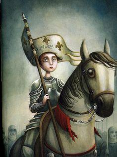 (by Benjamin Lacombe) Saint Joan Of Arc, St Joan, Brow Artist, Mark Ryden, Pop Surrealism, Art For Art Sake, Fantastic Art, Art World, Pop Art
