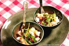Hapje met verse vijgen, rauwe ham en mozzarella - De Loopgekke Keukenprinses