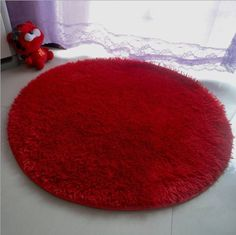Nicedeco Comfortable Rug Approx. Diameter 39.37inches,100cm Round Feather Height 2.5CM Wholesales Price Color Red Flexible/Soft/Smooth Carpet/Mat/Rug Suitable For Stairway/Toilet/Study/Floor/Bedroom/Living Room/Bathroom/Kitchen/Home Decoration/Area Nicedeco http://www.amazon.com/dp/B00JZO1LHI/ref=cm_sw_r_pi_dp_ZHTmub03Z575R