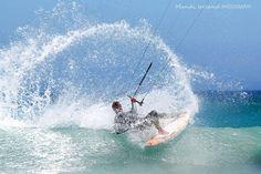 Great Kite #surfing spray