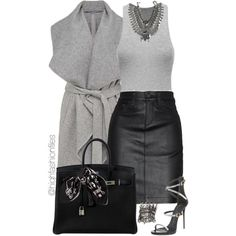 A fashion look from July 2015 featuring French Connection coats, rag & bone/JEAN skirts and Giuseppe Zanotti sandals. Browse and shop related looks.