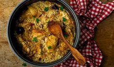 Κοτόπουλο με ρύζι και αποξηραμένα φρούτα