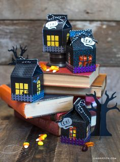 Make your own DIY Halloween treat carton to fill with spooky snacks for your little trick-or-treaters! By handcrafted lifestyle expert Lia Griffith.