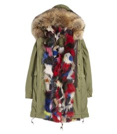Mr & Mrs Furs Army Parka Patch Fox Coat
