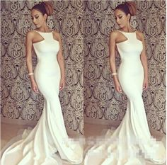 2015 New Summer Women's Sexy Fishtail Dress Cocktail Dress Prom Dress White Dress Wholesale Club from Lianglifushi,$12.57 | DHgate.com
