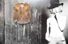 fur vest and lace shirt underneath...amazing combo