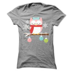 Owl Christmas T-shirt Pinned by www.myowlbarn.com