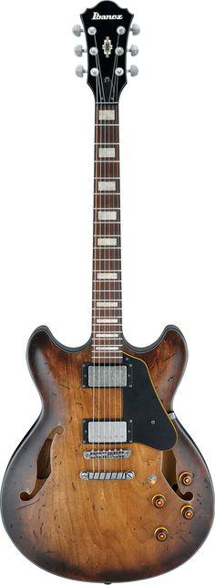 Ibanez Artcore Vintage ASV10 Semihollow Guitar Tobacco Burst Low Gloss $499
