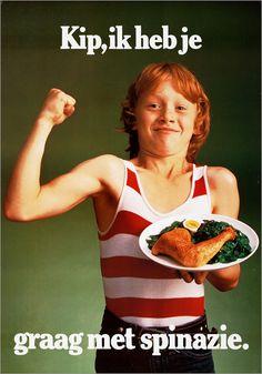 Kip, ik heb je graag met spinazie.